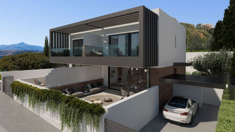 50 semi-detached villas on the first line of golf, next to the Atalaya Golf Country Club.