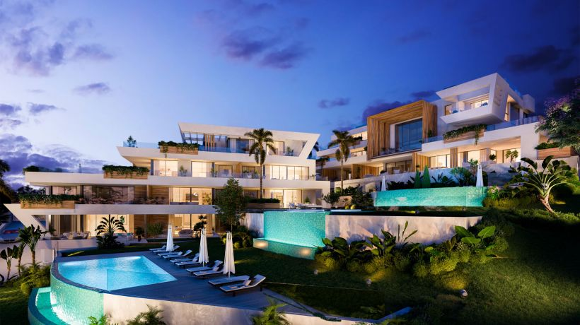 Cada vivienda en Marbella Sunset es única, no hay dos iguales. Sin embargo, hay algo que todas tienen en común: el espacio es el protagonista.