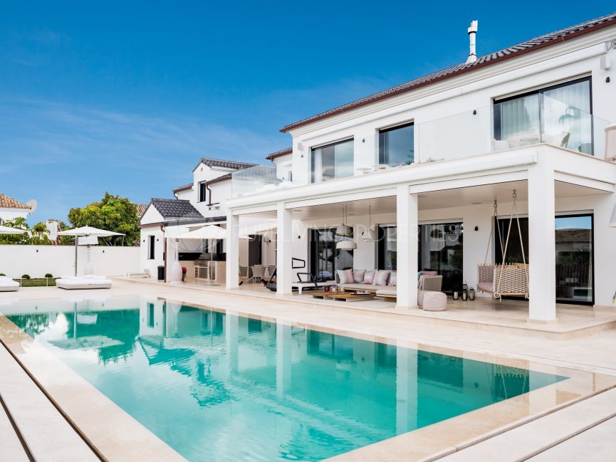 Outstanding recently renovated beachside villa located walking distance to the beach on Marbella's Golden Mile.