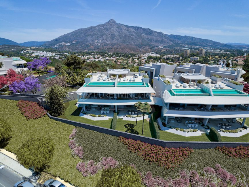 Outstanding contemporary new development located in an extraordinary plot in Nueva Andalucia.