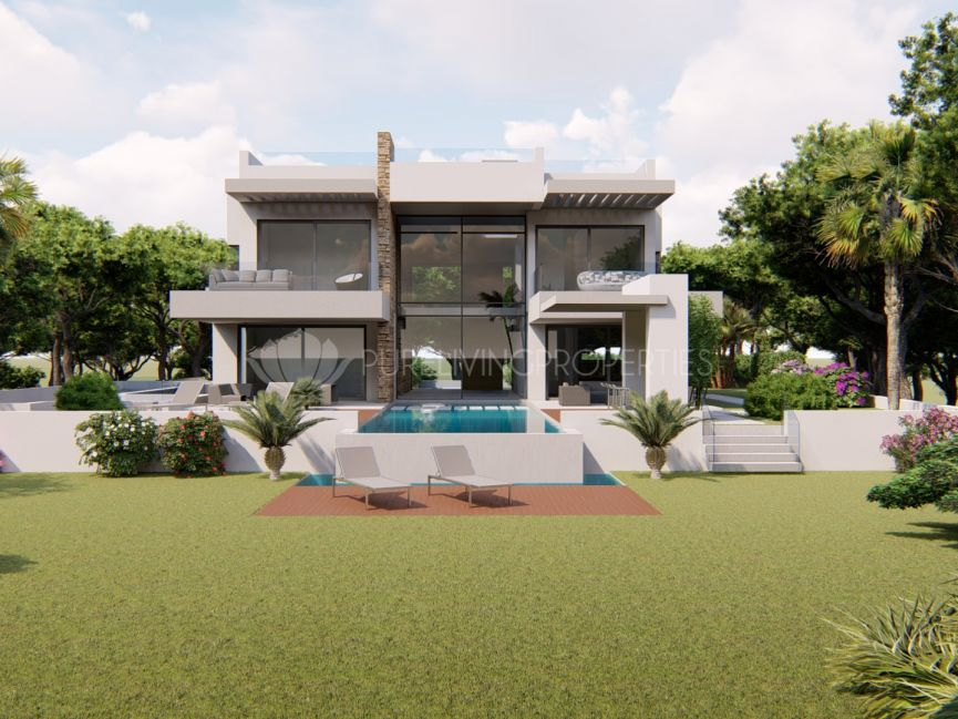 Plot with approved project for a contemporary villa in Altos de Puente Romano