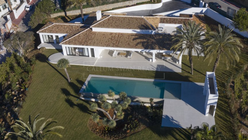 Marbella Golden Mile, Lovely luxury villa in Sierra Blanca all on one level
