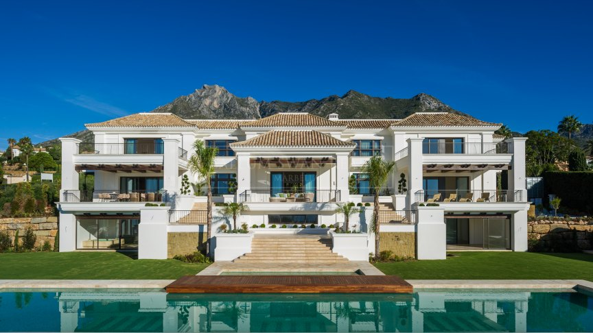Marbella Golden Mile, Brand new luxury villa in Sierra Blanca with impressive sea views