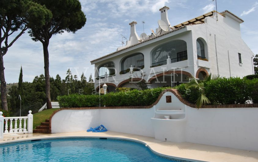 A nice home with sea and golf views in a small gated complex