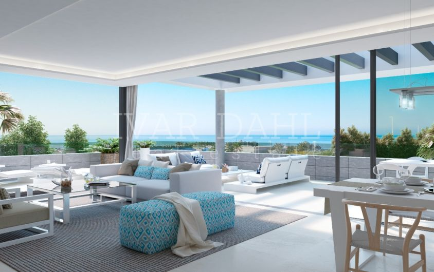 Estepona, new luxury modern style apartments in a beautiful setting