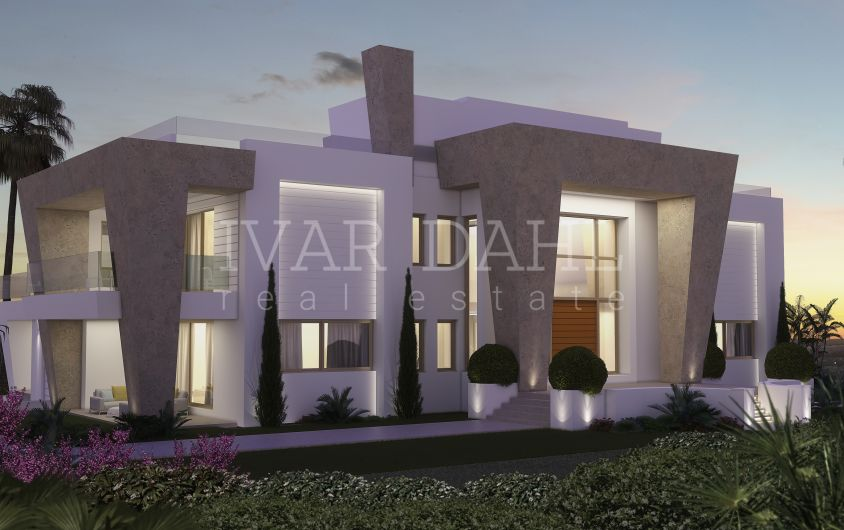 Moderne villa im bau in sierra blanca marbella