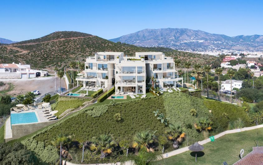 New modern apartments and Penthouses with sea views in Mijas-Costa, Malaga.
