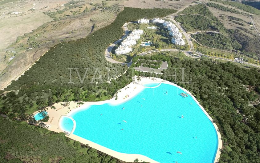 Estepona Golf, Casares, new apartments with a lagoon