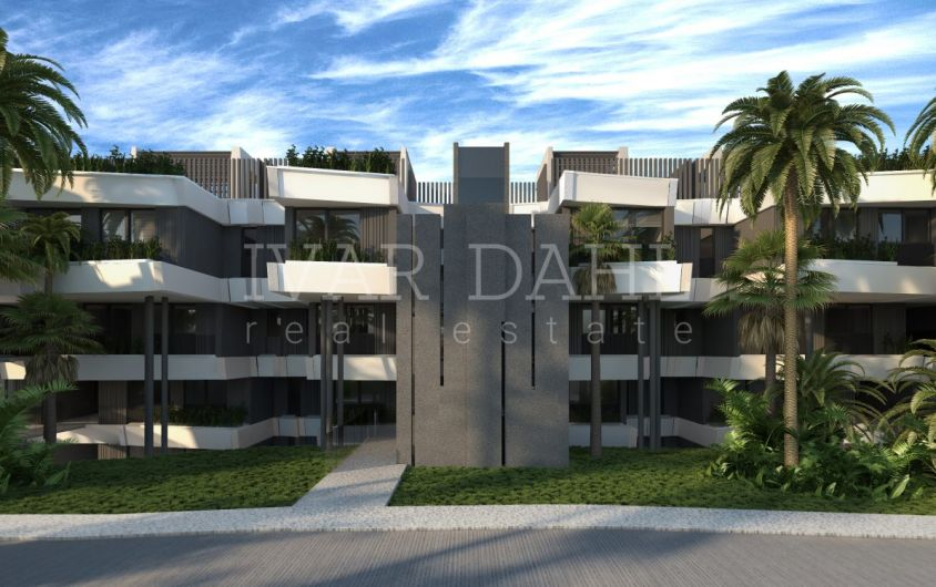 Estepona, new contemporary apartments with sea views for sale.