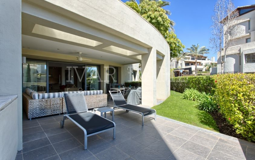 Lovely garden apartment for sale in Imara Sierra Blanca, Marbella