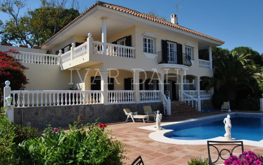 Villa for sale with sea views in Elviria, east Marbella, Costa del Sol