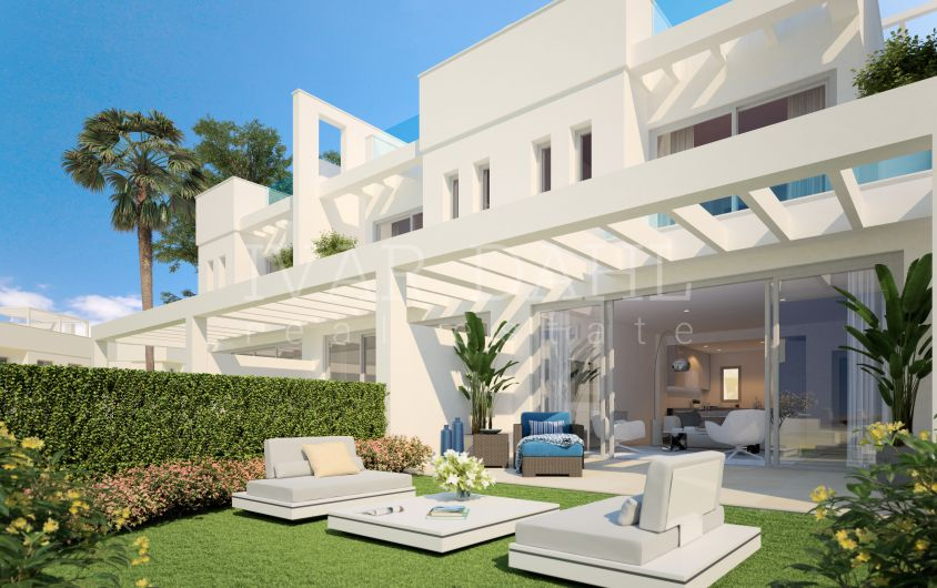 New modern townhouses for sale in Mijas-Costa, Malaga