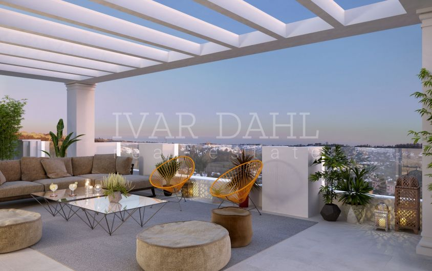 Spacious, new apartments with sea views in Nueva Andalucia, Marbella