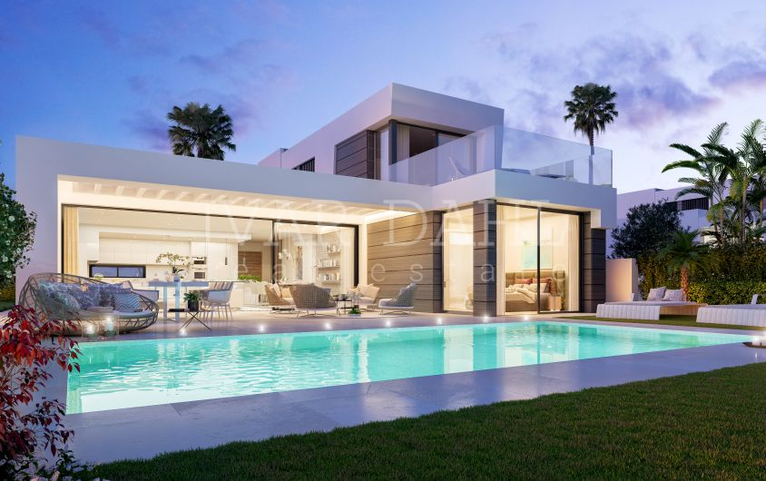 New contemporary villas with sea views in Mijas-Costa, Málaga