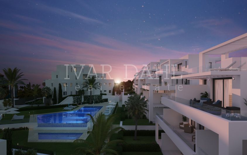 New modern apartments and penthouses for sale in golf area of Estepona, Costa del sol