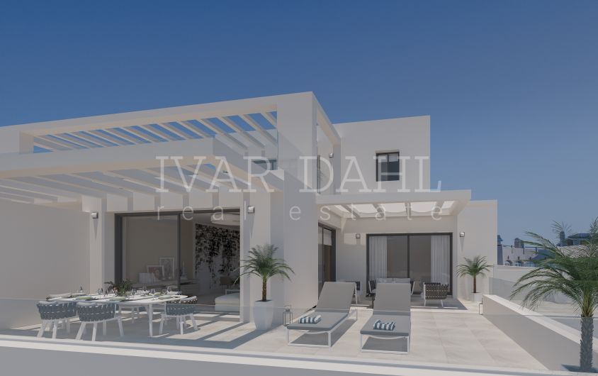 New modern, apartments and penthouses in golf area of Estepona for sale