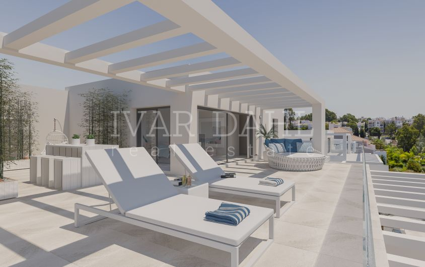 New modern apartments and penthouses in golf area of Estepona for sale
