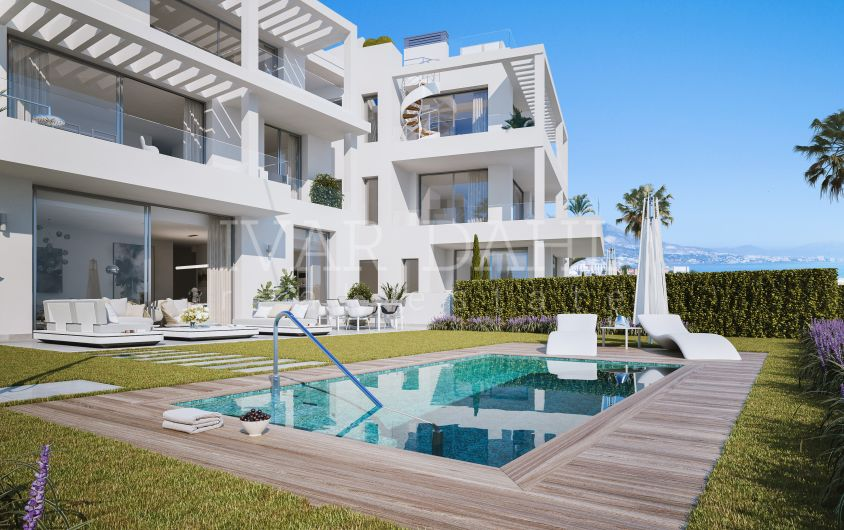 New modern apartments with sea views for sale in Mijas-Costa, Malaga, Costa del Sol.