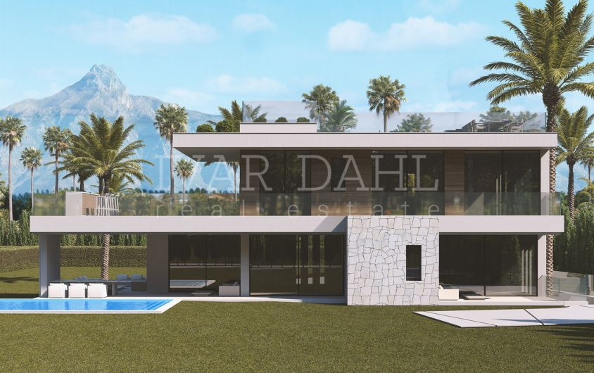 Contemporary luxury villa set at the heart of Golden Mile, close to Marbella, for sale