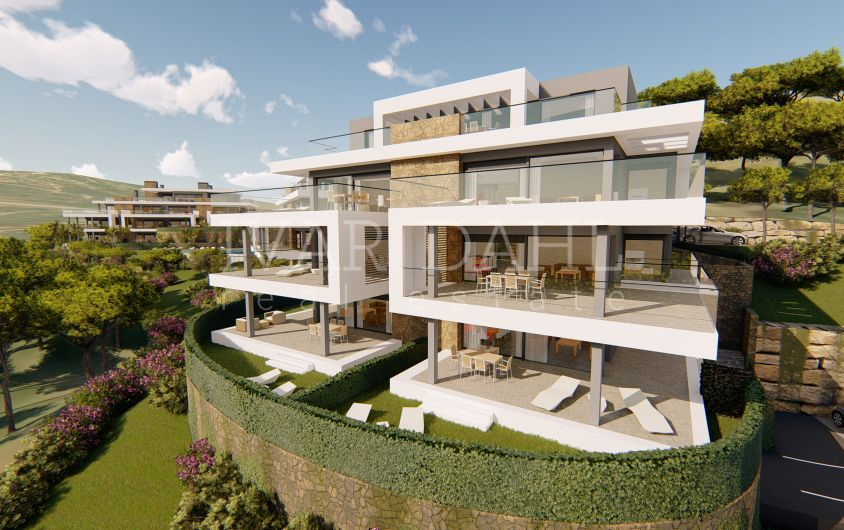 New modern apartments and penthouses with sea views in Estepona