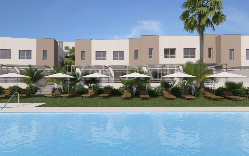 New townhouses for sale on first line golf in Estepona, Malaga, Costa del Sol
