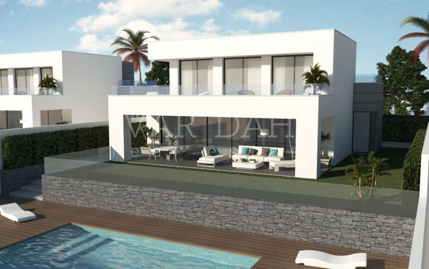 Manilva, west Estepona, new modern villas for sale