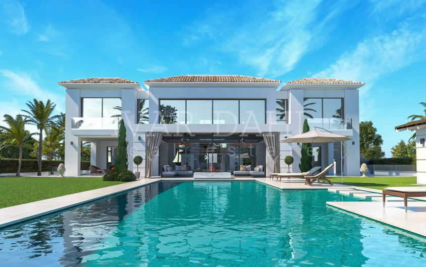 New villa near beach for sale in Casasola, Estepona, Costa del Sol