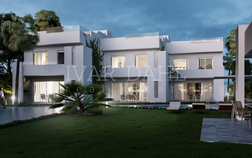 New townhouses for sale in Valle del Golf, Nueva Analucia, Marbella