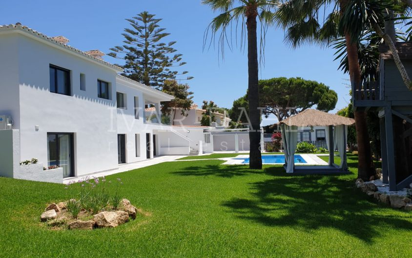 Reformed villa for sale in Cabopino, Marbella East