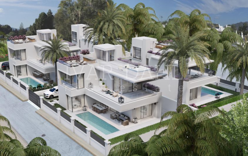 New Beach Side Villas for sale in Golden Mile, Marbella, Puerto Banus