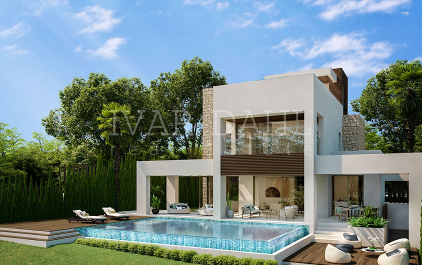 Golden Mile, new contemporary villas in walking distance to amenities and beach
