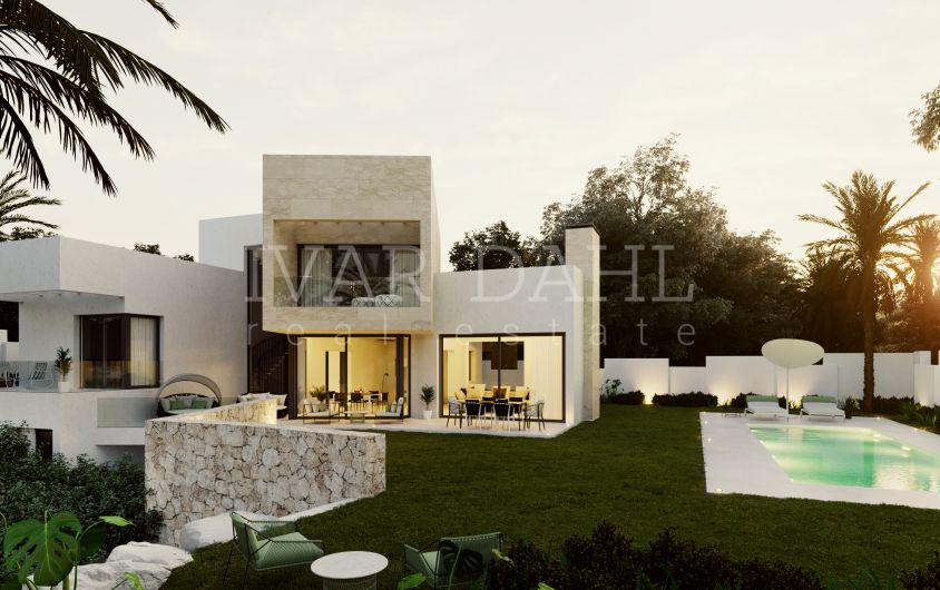 Benahavis, close to golf courses, new contemporary villa for sale