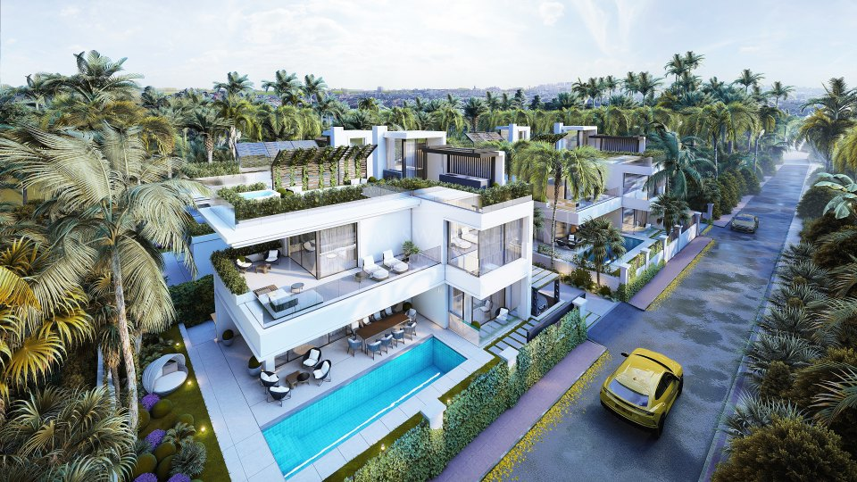Marbella Golden Mile, Brand new villa for sale close the beach on Marbella's Golden Mile