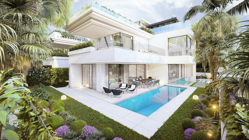 Marbella Golden Mile, Brand new luxury villa for sale on Marbella's Golden Mile