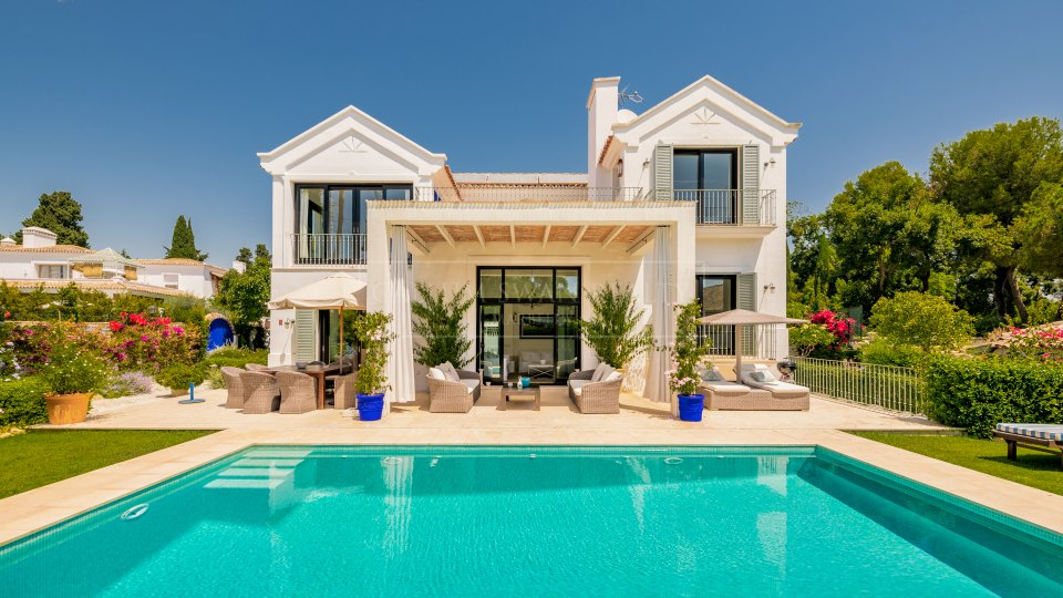 Marbella Golden Mile, Luxury villa for rent within Marbella Club with traditional Marbella style and charm