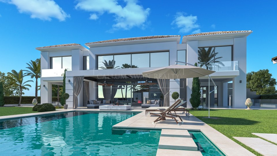 Estepona, Brand new luxury villa for sale in Casasola near the beach