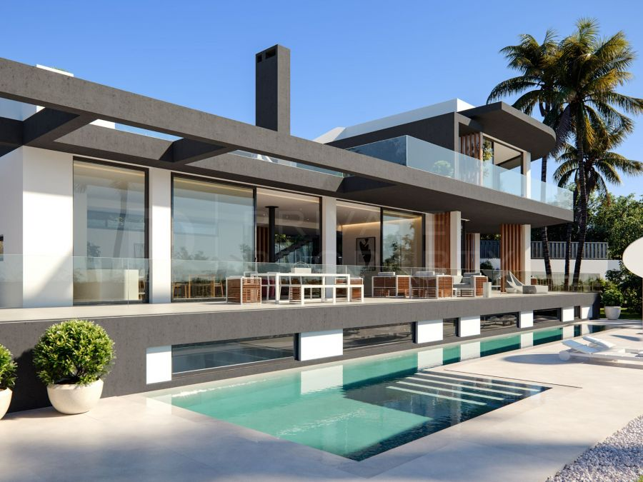 Modern villa above the Golden Mile