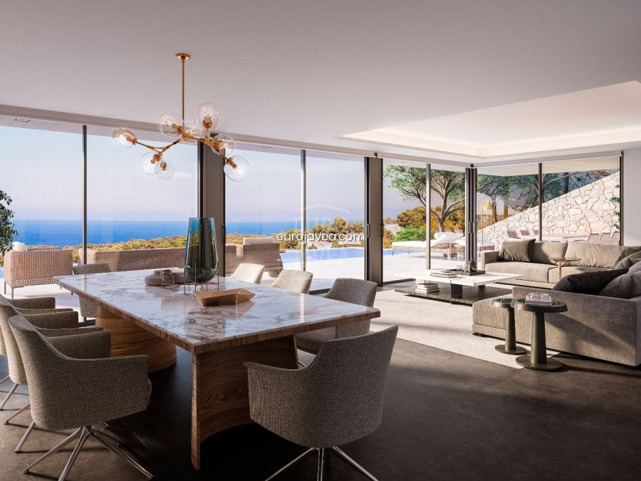 Project with licence to build a luxury villa for sale in Jávea with magnificent sea views.