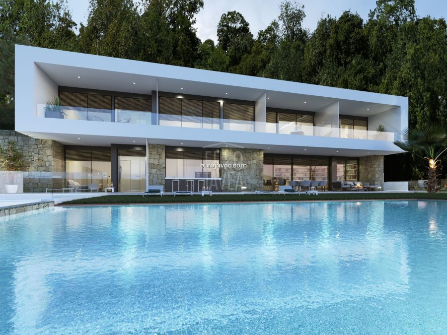 Proyecto de villa estilo contemporáneo a la venta en Jávea en Cuesta de San Antonio , donde disfrutar de las mejores vistas sobre el puerto y la Bahía de Jávea