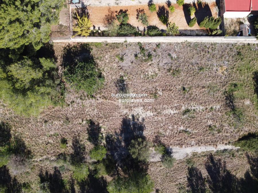 Set of 3 plots for sale in Jávea in Montgó Toscamar area
