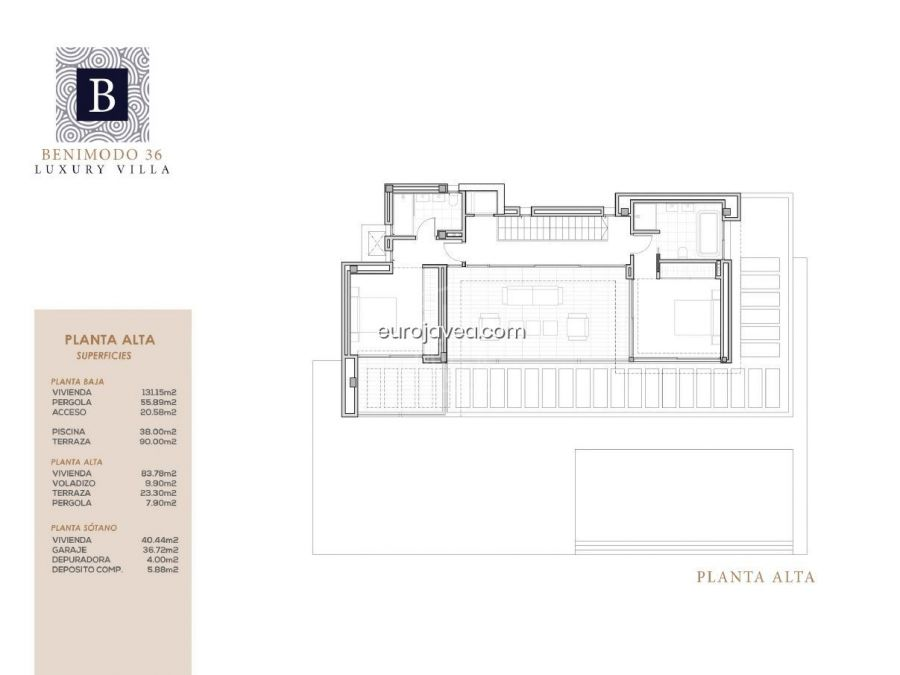 Luxury modern villa in construction for sale in one of the best area of Moraira, with sea views