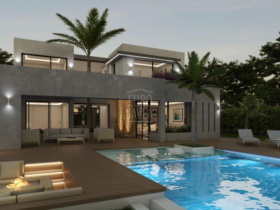 Proyecto a la venta en Jávea en fase de construcción en la zona de Costa Nova.