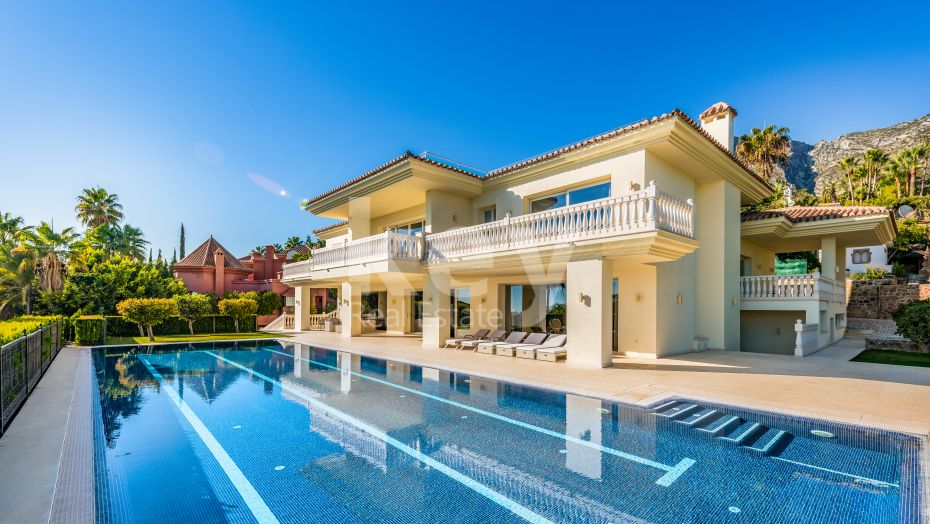 Luxury sea views villa in Sierra Blanca, Marbella