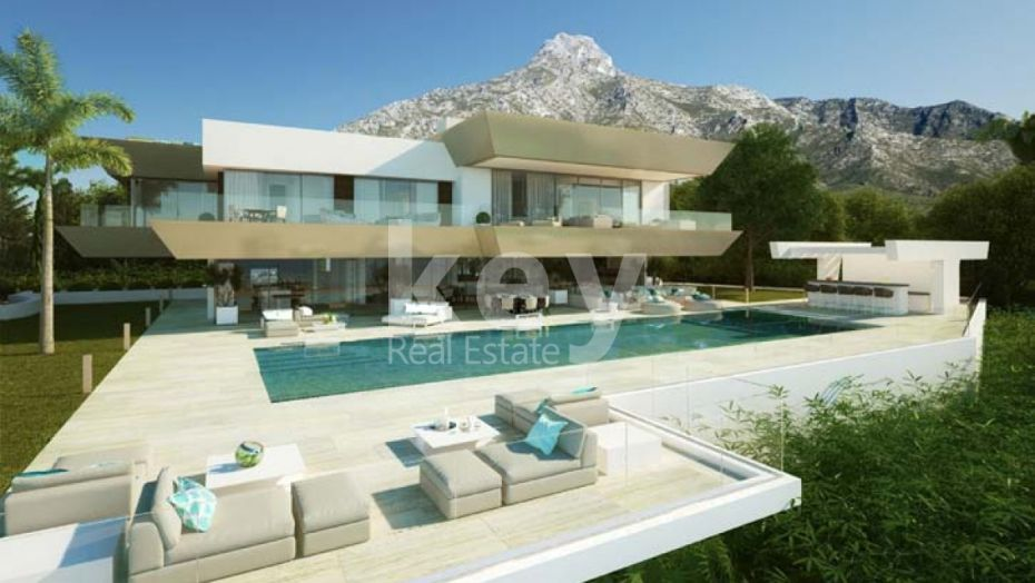 NEW, MODERN, LUXURY VILLA WITH SEA VIEWS IN GOLDEN MILE, SIERRA BLANCA