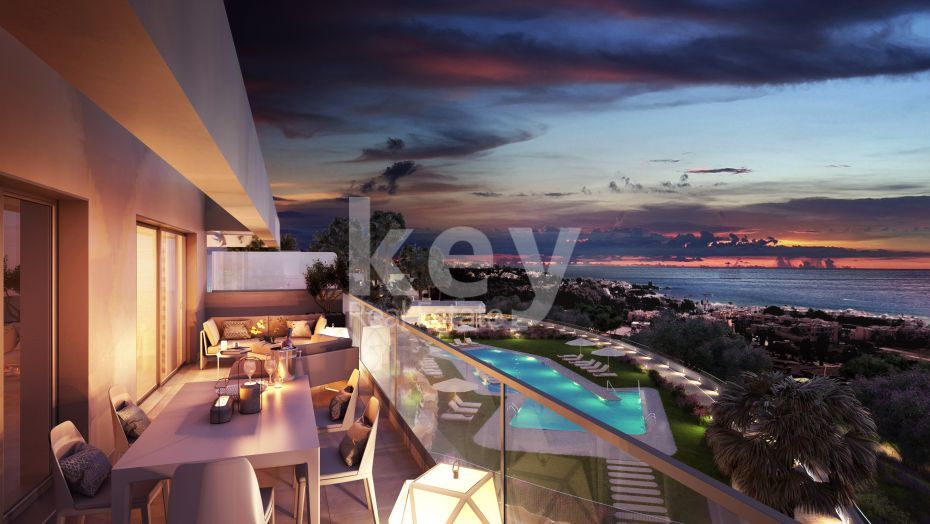 Apartment with amazing sea views inside a gated community, Casares