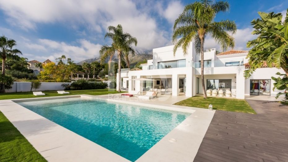 New modern style villa with sea views in sierra blanca, Golden mile