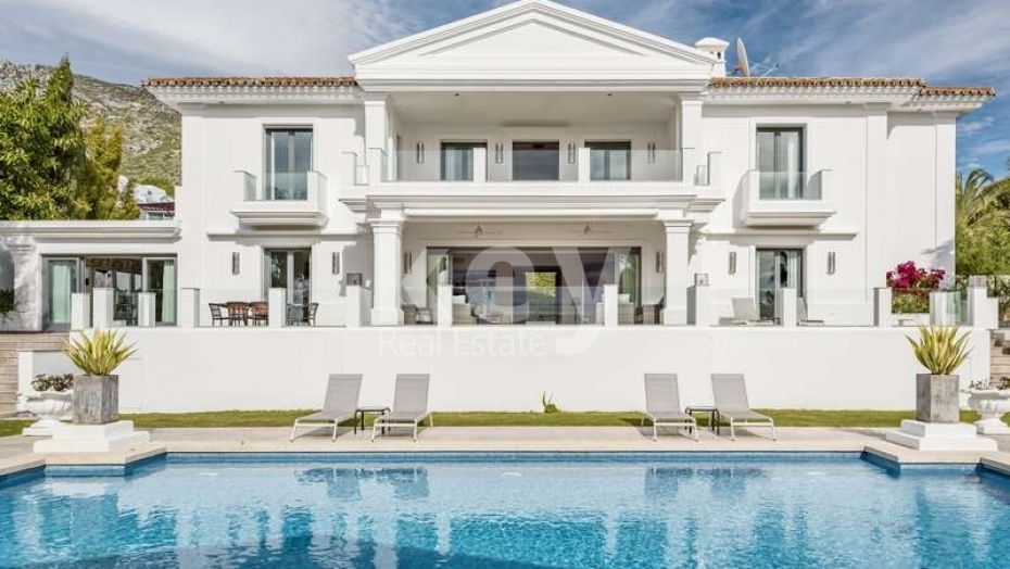 Villa Elegancia: sea views villa in Sierra Blanca, Golden Mile