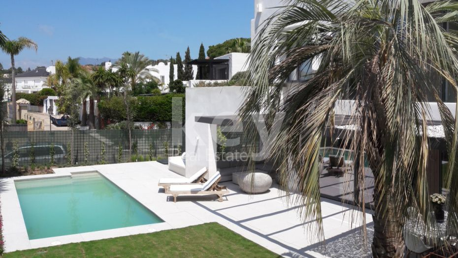 New modern villa in Golden Mile, Marbella, for long term