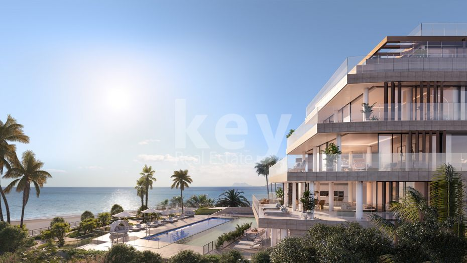 New beachfront and modern apartment in Estepona
