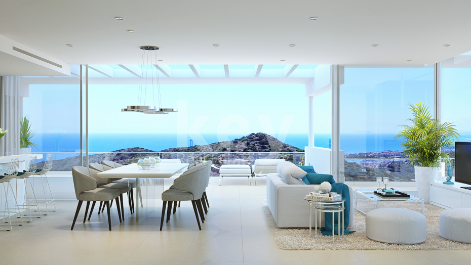Beautiful penthouse with sea views for sale in Marbella